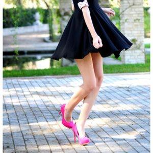 Bershka Hot Pink Suede Stilettos